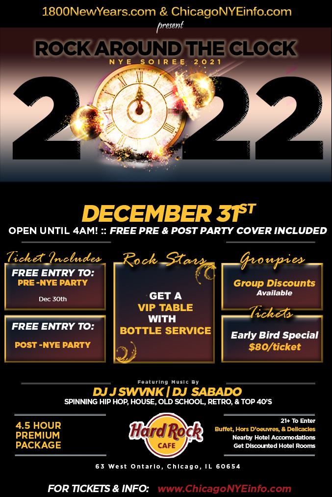 Chicago New Year's Eve Parties 2020-2021, New Year's Eve In Chicago - Chicago NYE Info